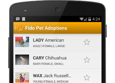 The number one pet adoption app on Google Play